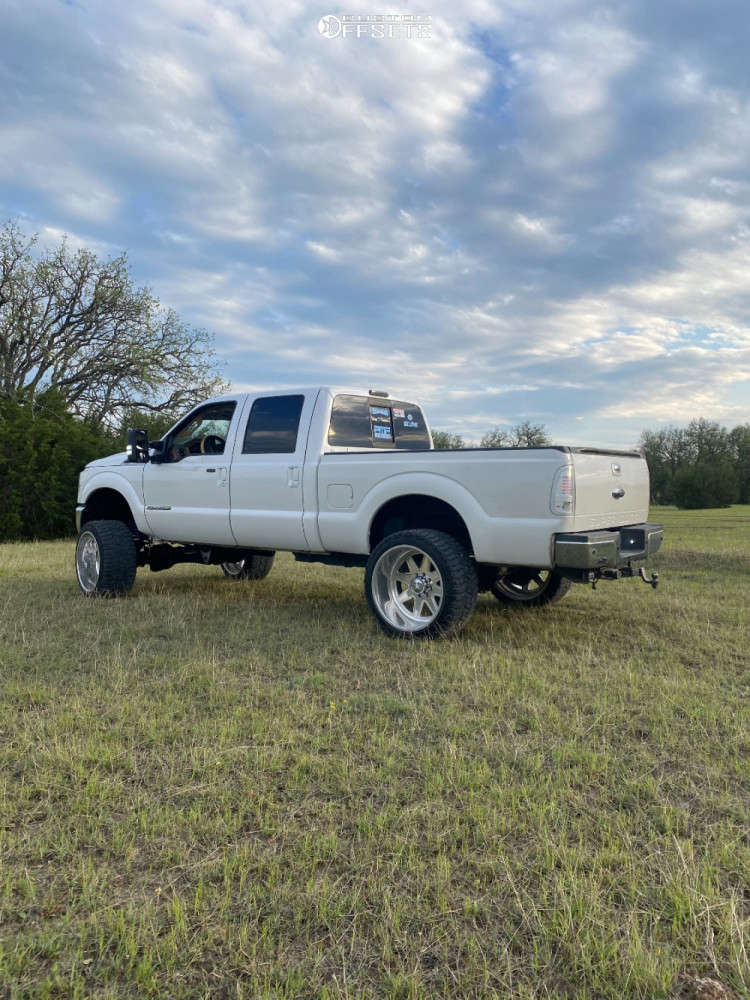 """2011 Ford F-250 Super Duty Hella Stance >5"""" on 24x16 -101 offset Fuel Forged Ff29 & 37""""x13.5"""" Comforser Cf3000 on Suspension Lift 6"""" - Custom Offsets Gallery"""