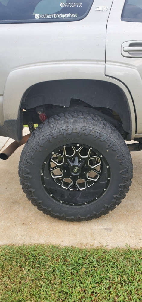 "2006 Chevrolet Tahoe Super Aggressive 3""-5"" on 20x12 -40 offset Hardrock Gunner & 375/55 Atturo Trail Blade Boss on Suspension Lift 9"" - Custom Offsets Gallery"