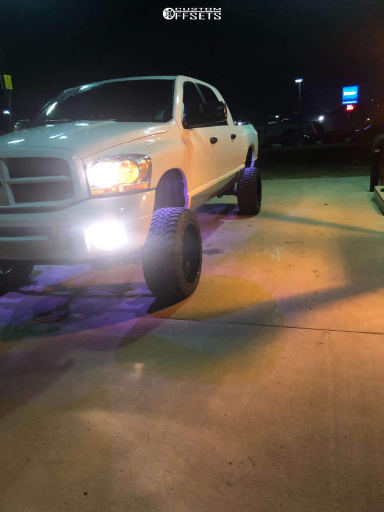 """2006 Dodge Ram 2500 Super Aggressive 3""""-5"""" on 22x12 -51 offset Cali Offroad Gemini & 33""""x12.5"""" Toyo Tires Open Country M/t on Suspension Lift 6"""" - Custom Offsets Gallery"""