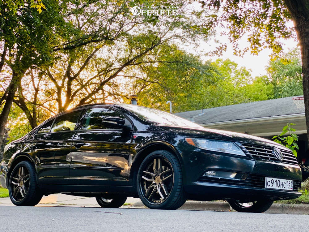 2013 Volkswagen CC Tucked on 19x8.5 45 offset Niche Methos & 235/35 Continental Extremecontact Dws06 Plus on Stock Suspension - Custom Offsets Gallery