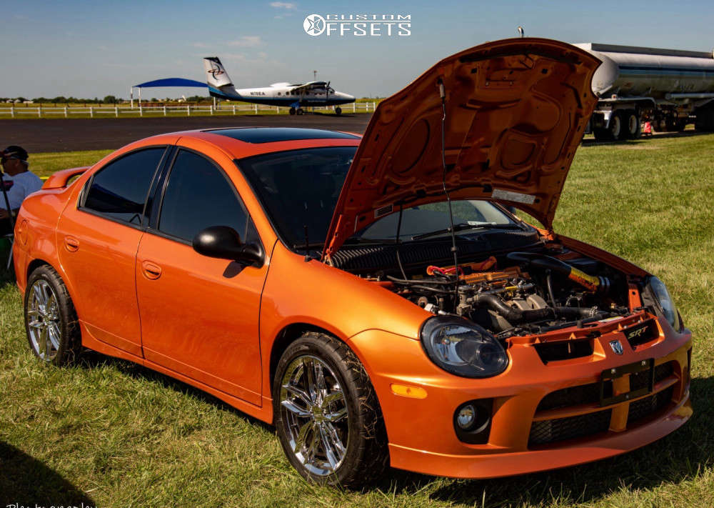 2005 Dodge Neon Poke on 17x7 45 offset Primax 776 & 205/50 Firestone Firehawk Indy 500 on Coilovers - Custom Offsets Gallery