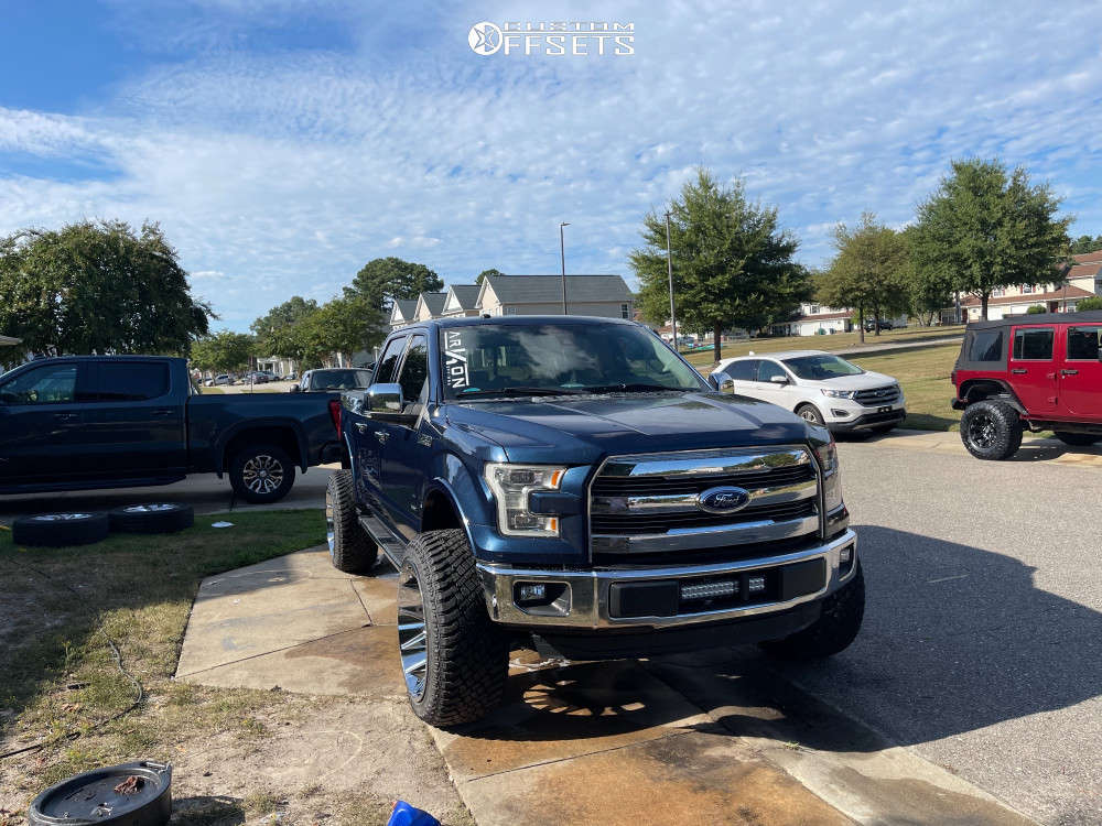 """2016 Ford F-150 Super Aggressive 3""""-5"""" on 24x14 -81 offset ARKON OFF-ROAD Roosevelt & 35""""x13.5"""" Atturo Trail Blade Xt on Suspension Lift 6"""" - Custom Offsets Gallery"""