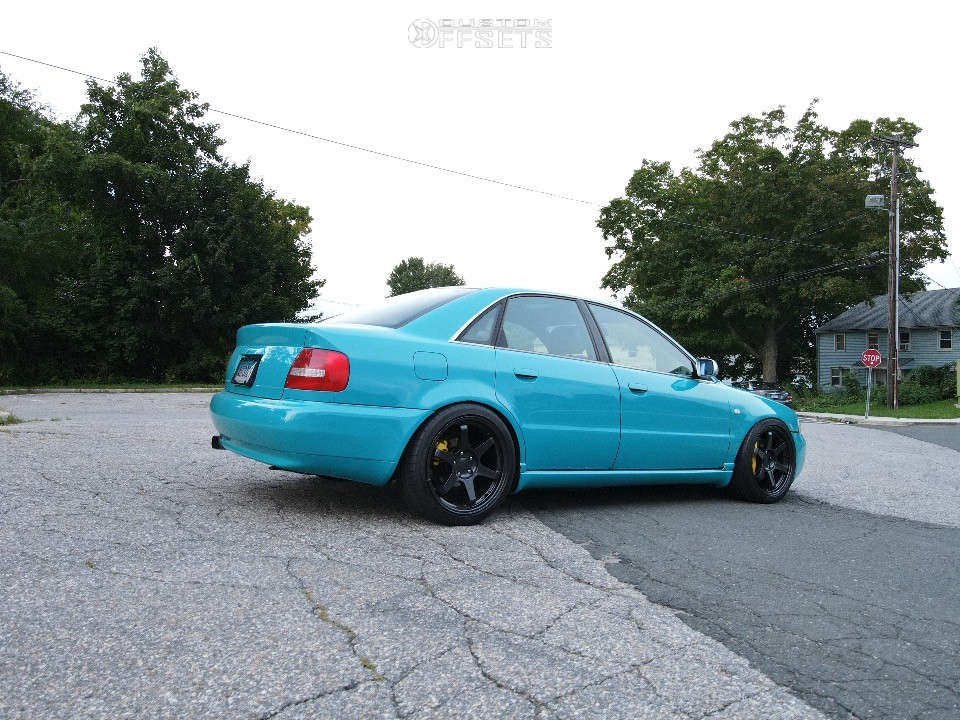 2000 Audi S4 Flush on 18x8.5 35 offset 9SiX9 Six-1 & 235/40 Michelin Pilot Super Sport on Lowering Springs - Custom Offsets Gallery