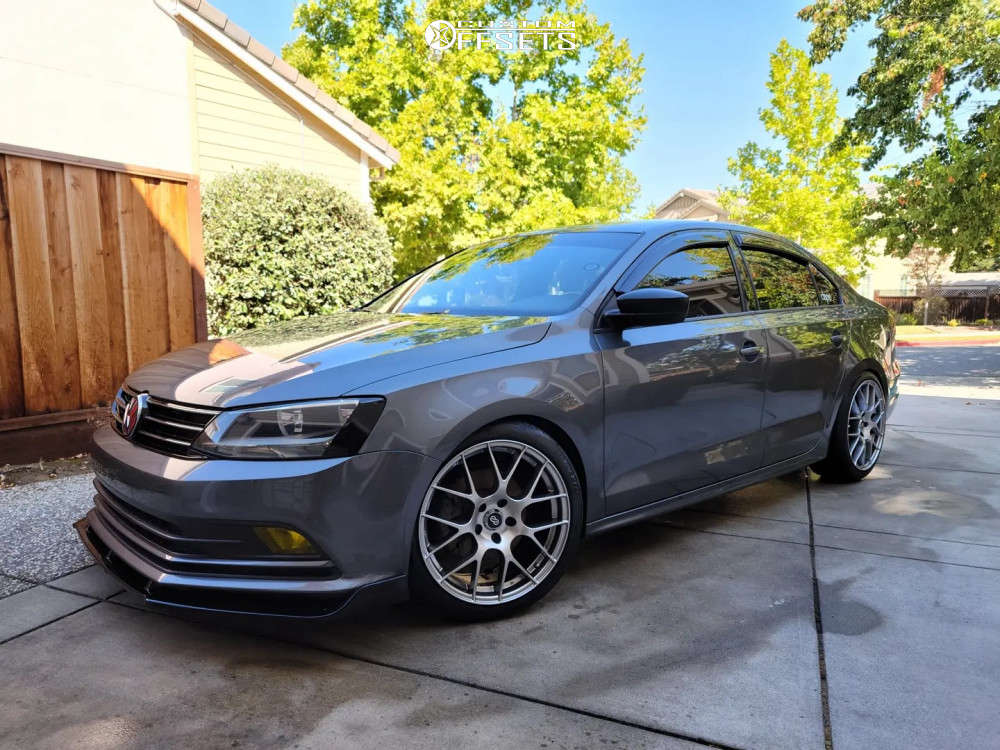 2016 Volkswagen Jetta Nearly Flush on 18x8.5 42 offset Enkei Raijin & 225/40 Continental Extremecontact Dws06 Plus on Lowering Springs - Custom Offsets Gallery