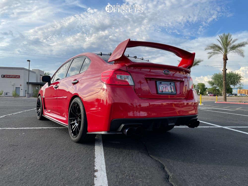 2018 Subaru WRX Nearly Flush on 18x8.5 38 offset AVID1 Av20 & 245/45 Yokohama Avid Ascend Gt on Stock Suspension - Custom Offsets Gallery