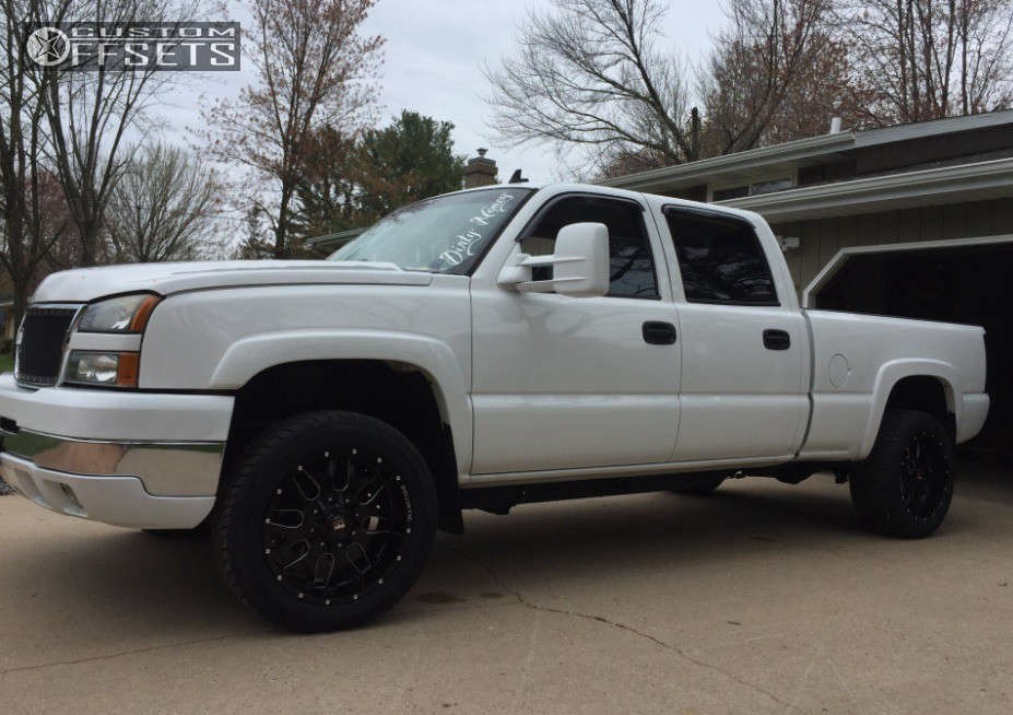 2007 Chevrolet Silverado 2500 HD Classic Slightly Aggressive on 20x10 -19 offset Ballistic Tank & 285/50 Toyo Tires Proxes S/T on Lowered 2F / 4R - Custom Offsets Gallery