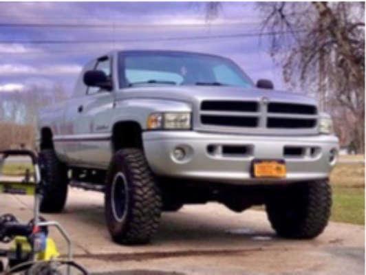 "2001 Dodge Ram 2500 Aggressive > 1"" outside fender on 18x8 0 offset Mickey Thompson Classic Baja Lock & 37""x11.5"" Mickey Thompson Baja Mtz on Stock - Custom Offsets Gallery"