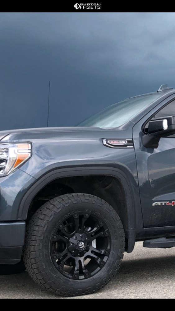 "2020 GMC Sierra 1500 Slightly Aggressive on 20x9 19 offset Fuel Vapor & 285/60 Cooper Discoverer At3 Xlt on Suspension Lift 2.5"" - Custom Offsets Gallery"