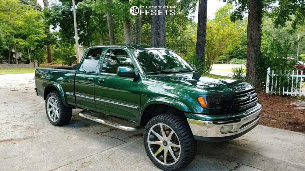 """2002 Toyota Tundra Aggressive > 1"""" outside fender on 22x9.5 25 offset Dub Push & 285/45 Patriot Patriot R/t on Leveling Kit - Custom Offsets Gallery"""