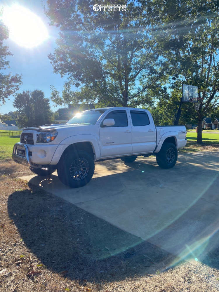 """2010 Toyota Tacoma Slightly Aggressive on 18x9 1 offset Fuel Rebel & 32""""x11.5"""" Toyo Open Country A/t Iii on Suspension Lift 3"""" - Custom Offsets Gallery"""