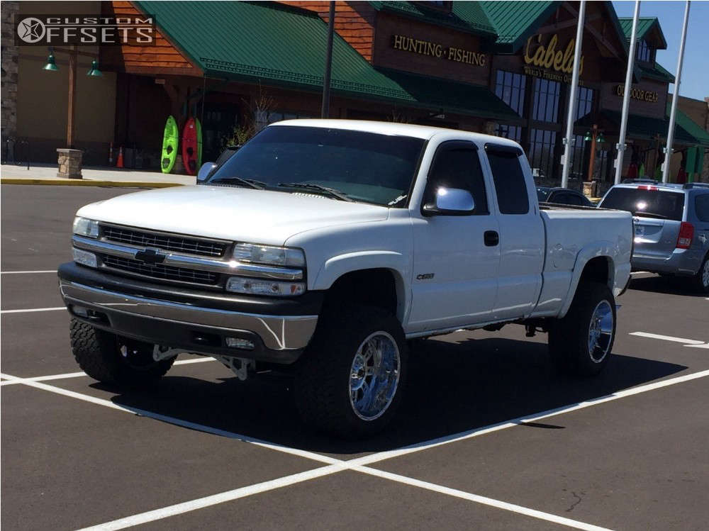 """2000 Chevrolet Silverado 1500 Super Aggressive 3""""-5"""" on 20x12 -44 offset XD Xd809 & 33""""x12.5"""" General Grabber AT2 on Suspension Lift 6"""" - Custom Offsets Gallery"""