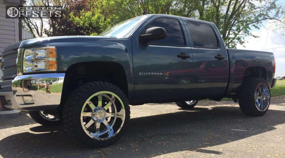 "2012 Chevrolet Silverado 1500 Super Aggressive 3""-5"" on 22x12 -44 offset Gear Off-Road Big Block & 33""x12.5"" Atturo Trail Blade MT on Suspension Lift 5"" - Custom Offsets Gallery"