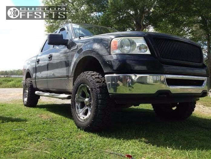 2007 Ford F-150 Slightly Aggressive on 18x9 -12 offset Dick Cepek DC-1 & 285/75 Fierce Attitude MT on Leveling Kit - Custom Offsets Gallery