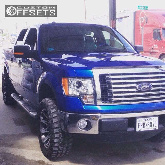 """2012 Ford F-150 Slightly Aggressive on 20x9 12 offset Ballistic Jester and 33""""x12.5"""" Federal Couragia MT on Leveling Kit - Custom Offsets Gallery"""