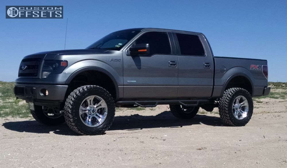 """2014 Ford F-150 Aggressive > 1"""" outside fender on 20x9 -12 offset XD Crank & 35""""x12.5"""" Nitto Trail Grappler on Suspension Lift 6"""" - Custom Offsets Gallery"""
