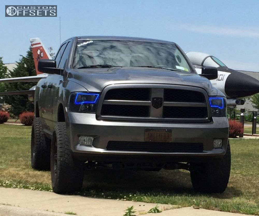 """2012 Ram 1500 Aggressive > 1"""" outside fender on 20x9 -12 offset Red Dirt Road USA and 35""""x12.5"""" Nitto Terra Grappler G2 on Suspension Lift 6"""" - Custom Offsets Gallery"""
