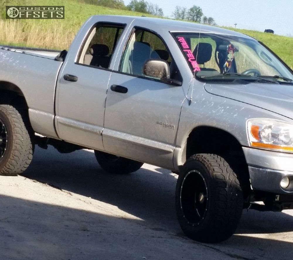 "2006 Dodge Ram 1500 Super Aggressive 3""-5"" on 20x12 -44 offset Moto Metal MO962 and 35""x12.5"" Mickey Thompson Baja Atz on Suspension Lift 6"" - Custom Offsets Gallery"