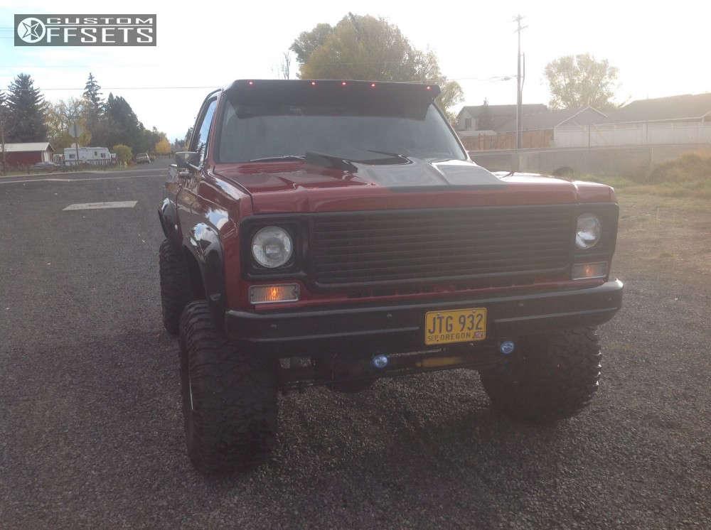 "1978 Chevrolet K10 Super Aggressive 3""-5"" on 15x10 -45 offset Mickey Thompson Classic Baja Lock and 35""x12.5"" Mickey Thompson Baja Mtz on Suspension Lift 6"" - Custom Offsets Gallery"