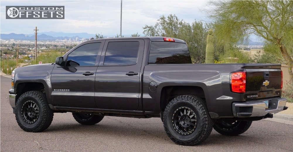"2014 Chevrolet Silverado 1500 Slightly Aggressive on 18x9 18 offset Method Double Standard and 35""x12.5"" BFGoodrich All Terrain TA KO2 on Suspension Lift 4.5"" - Custom Offsets Gallery"