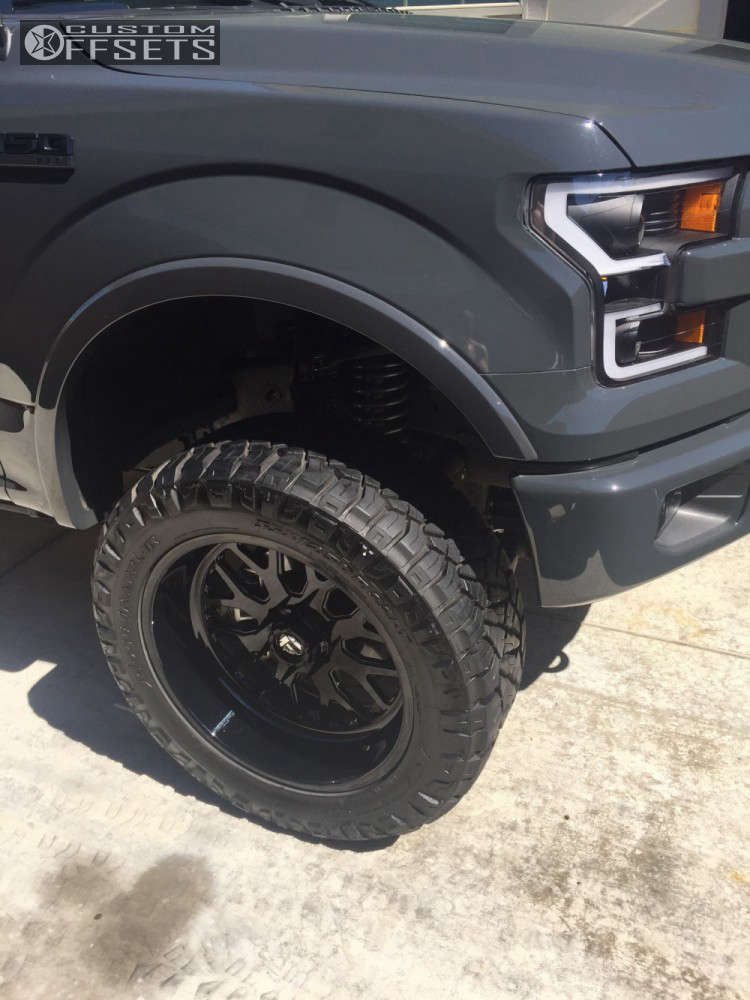 """2016 Ford F-150 Aggressive > 1"""" outside fender on 22x10 -25 offset Fuel Forged Ff19 and 35""""x12.5"""" Nitto Ridge Grappler on Stock - Custom Offsets Gallery"""