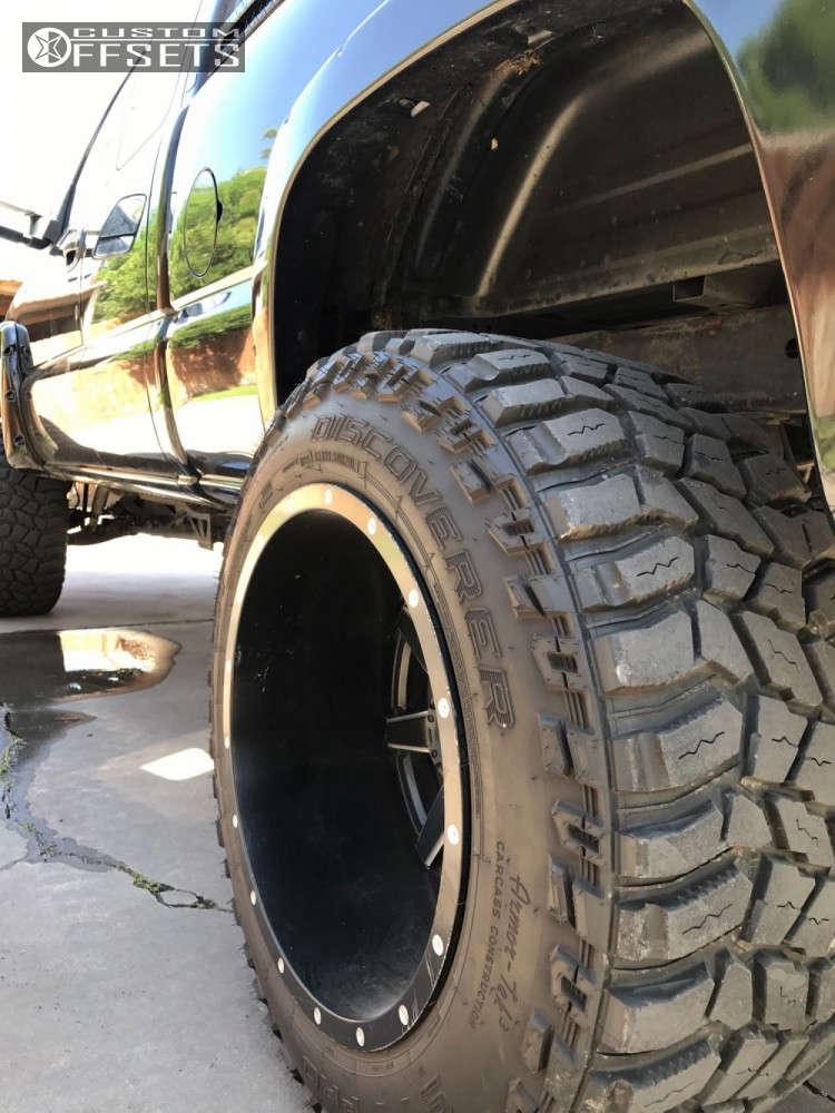 "2001 Chevrolet Silverado 1500 Super Aggressive 3""-5"" on 20x14 -76 offset Fuel Maverick & 35""x13.5"" Cooper Discoverer STT Pro on Suspension Lift 9"" - Custom Offsets Gallery"