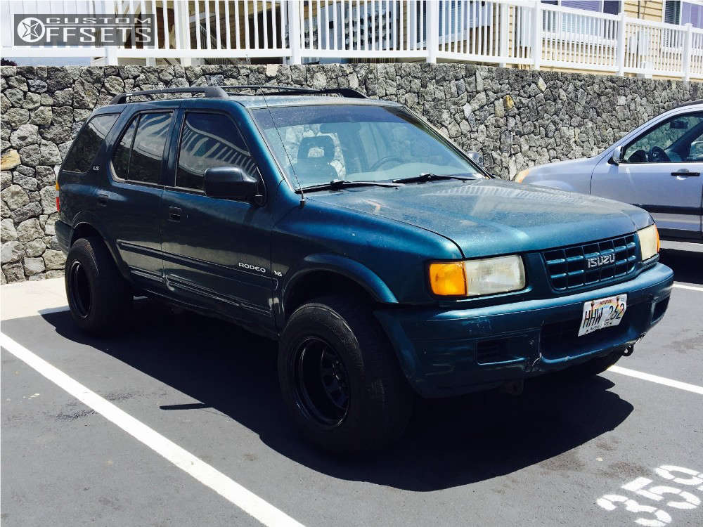 """1999 Isuzu Rodeo Super Aggressive 3""""-5"""" on 15x10 -44 offset Pro Comp 51 and 235/75 Cooper 453 on Stock Suspension - Custom Offsets Gallery"""