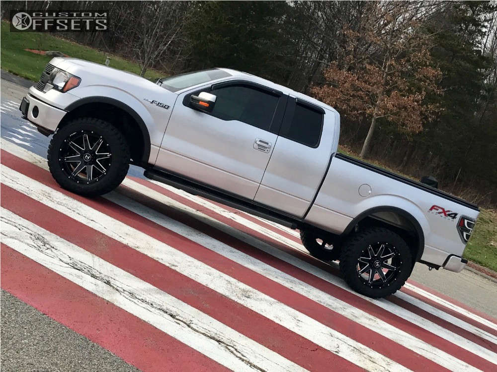"""2014 Ford F-150 Super Aggressive 3""""-5"""" on 22x10 -25 offset Hostile Alpha and 35""""x12.5"""" Toyo Tires Open Country M/T on Suspension Lift 4"""" - Custom Offsets Gallery"""