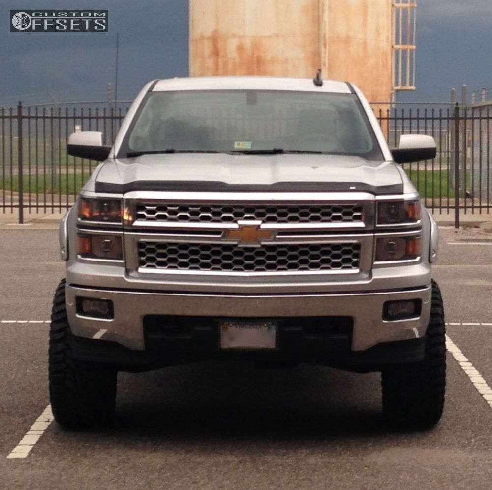 "2015 Chevrolet Silverado 1500 Super Aggressive 3""-5"" on 20x10 -24 offset Moto Metal Mo961 & 35""x12.5"" Mastercraft Courser Mxt on Suspension Lift 7.5"" - Custom Offsets Gallery"