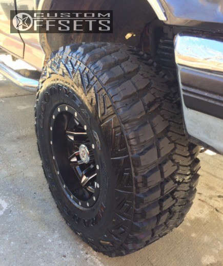 """1994 Ford Bronco Slightly Aggressive on 15x10 -43 offset Fuel Lethal and 33""""x12.5"""" Goodyear Wrangler Mtr on Suspension Lift 4"""" - Custom Offsets Gallery"""