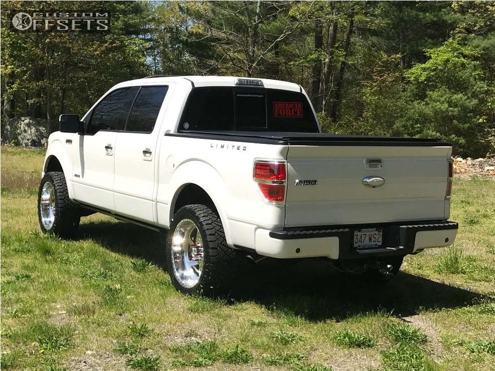 """2013 Ford F-150 Aggressive > 1"""" outside fender on 22x10 -25 offset American Force Jade Ss and 33""""x12.5"""" Nitto Ridge Grappler on Leveling Kit - Custom Offsets Gallery"""