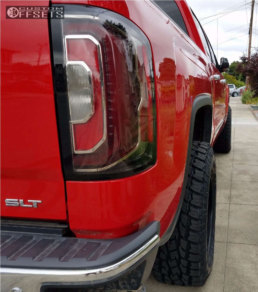 2016 GMC Sierra 1500 Slightly Aggressive on 18x9 -12 offset Method Vex and 285/65 Toyo Tires Open Country A/t Ii on Leveling Kit - Custom Offsets Gallery