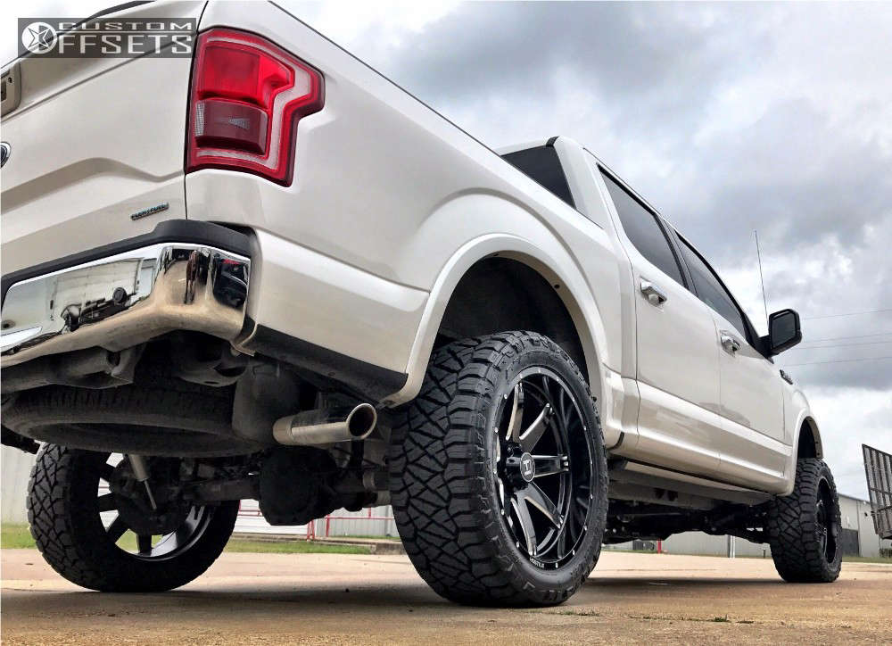 """2015 Ford F-150 Aggressive > 1"""" outside fender on 22x10 -25 offset Hostile Alpha and 33""""x12.5"""" Nitto Ridge Grappler on Suspension Lift 4"""" - Custom Offsets Gallery"""