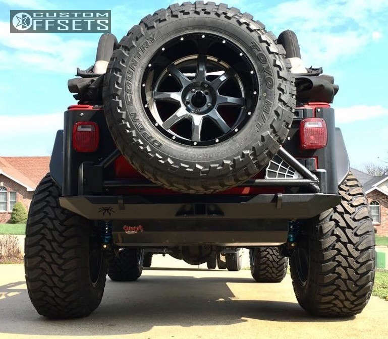 """2004 Jeep Wrangler Super Aggressive 3""""-5"""" on 20x12 -44 offset Moto Metal Mo970 and 37""""x13.5"""" Toyo Tires Open Country M/T on Suspension Lift 3"""" - Custom Offsets Gallery"""