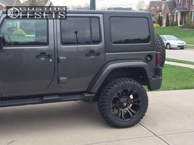 """2016 Jeep Wrangler Aggressive > 1"""" outside fender on 20x10 -18 offset Fuel Vapor and 33""""x12.5"""" Atturo Trail Blade Mt on Suspension Lift 3.5"""" - Custom Offsets Gallery"""