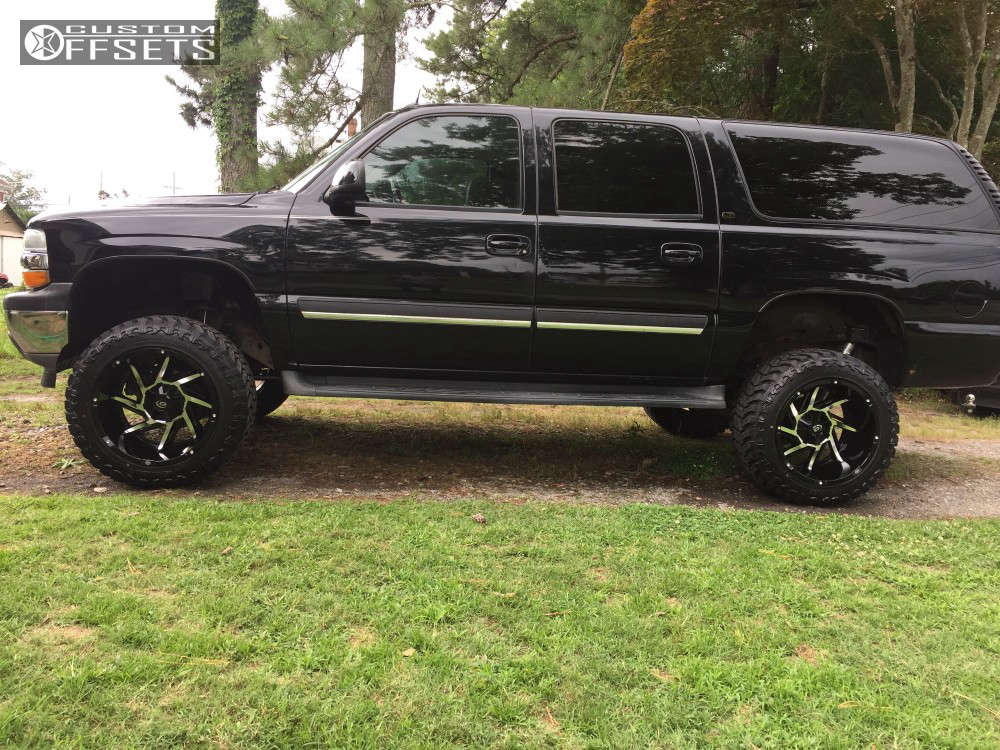 """2005 Chevrolet Suburban Super Aggressive 3""""-5"""" on 20x12 -51 offset Vision Prowler & 33""""x12.5"""" Atturo Trail Blade XT on Suspension Lift 6"""" - Custom Offsets Gallery"""