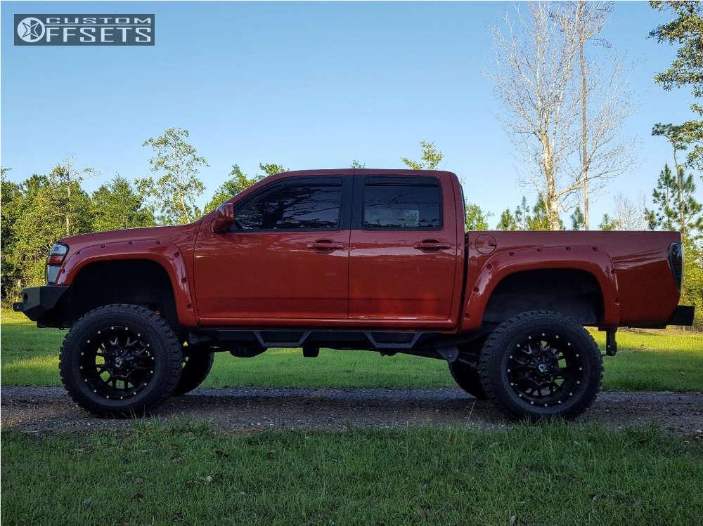 "2008 Chevrolet Colorado Slightly Aggressive on 20x10 -19 offset Dropstars 645b & 35""x12.5"" Gladiator QR900-MT on Suspension Lift 7"" & Body 3"" - Custom Offsets Gallery"