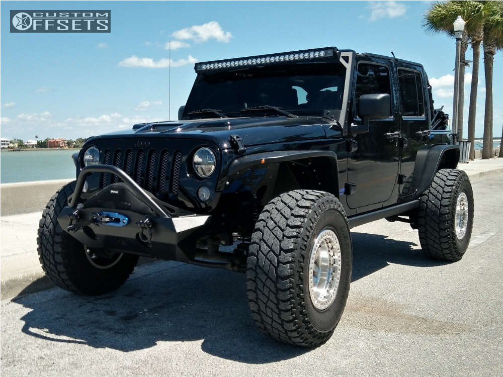 """2008 Jeep Wrangler Hella Stance >5"""" on 17x9 -38 offset XD Xd229 and 37""""x12.5"""" Cooper Discoverer S/t Maxx on Suspension Lift 3"""" - Custom Offsets Gallery"""