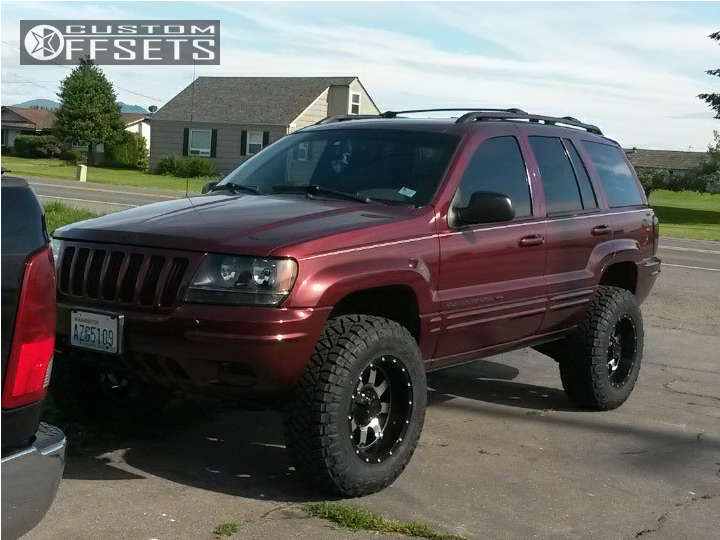 """2000 Jeep Grand Cherokee Slightly Aggressive on 17x9 -12 offset Gear Off-Road Big Block & 265/75 Nitto Ridge Grappler on Suspension Lift 3"""" - Custom Offsets Gallery"""