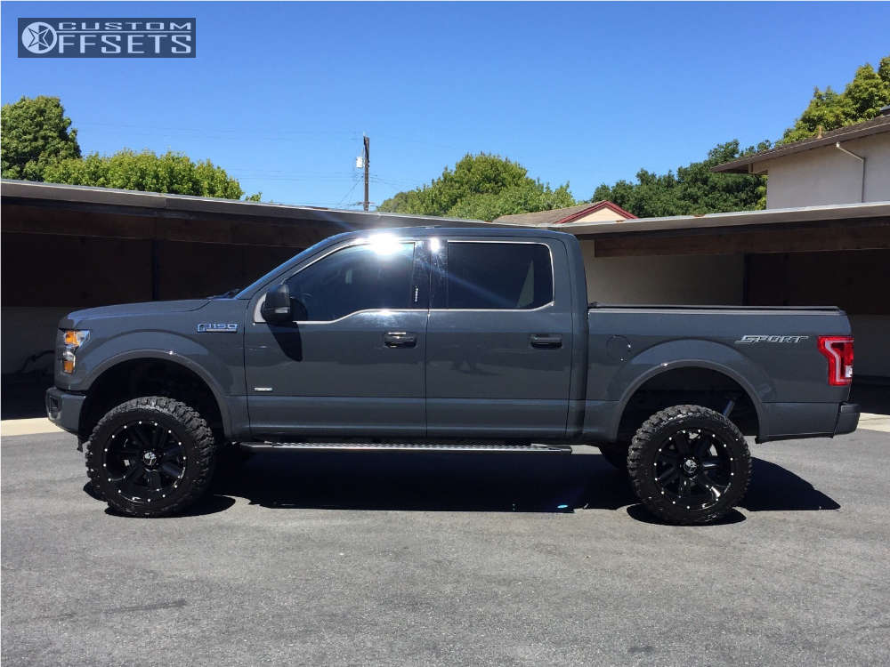 """2016 Ford F-150 Super Aggressive 3""""-5"""" on 20x12 -44 offset Hostile Switch Blade & 33""""x12.5"""" Federal Couragia Mt on Suspension Lift 6"""" - Custom Offsets Gallery"""