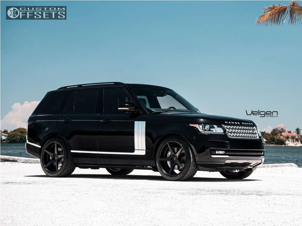 2016 Land Rover Range Rover Flush on 22x10.5 45 offset Velgen Classic5 & 285/40 Nitto Nt05 on Stock Suspension - Custom Offsets Gallery