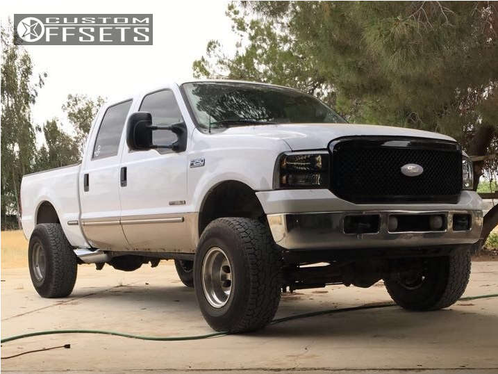 """1999 Ford F-250 Super Duty Super Aggressive 3""""-5"""" on 16x12 -50 offset Mickey Thompson Classic & 315/75 Cooper Discoverer At3 on Suspension Lift 3.5"""" - Custom Offsets Gallery"""