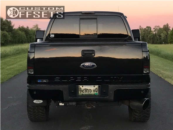 """2011 Ford E-350 Super Duty Slightly Aggressive on 20x10 -24 offset Fuel Lethal & 35""""x12.5"""" Nitto Trail Grappler on Leveling Kit - Custom Offsets Gallery"""
