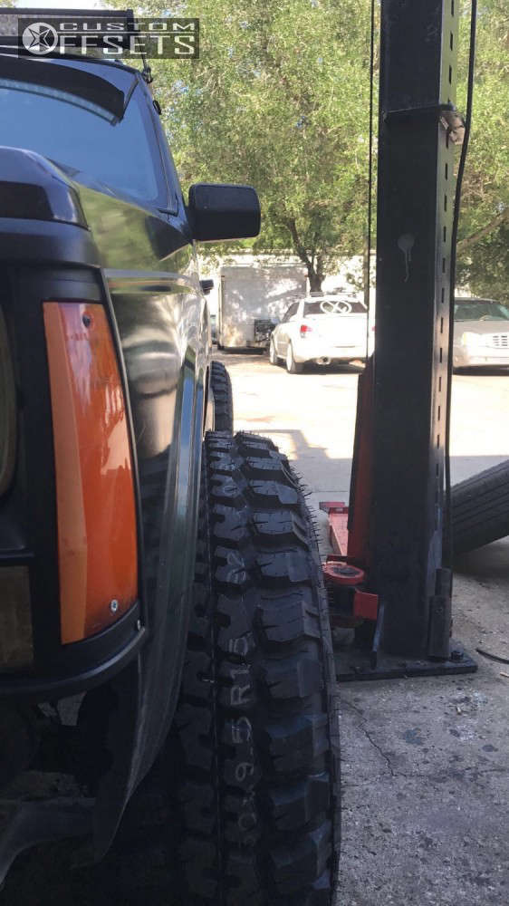 """1996 Jeep Cherokee Hella Stance >5"""" on 15x10 -44 offset Ultra Vagabond & 30""""x9.5"""" Federal Couragia MT on Stock Suspension - Custom Offsets Gallery"""
