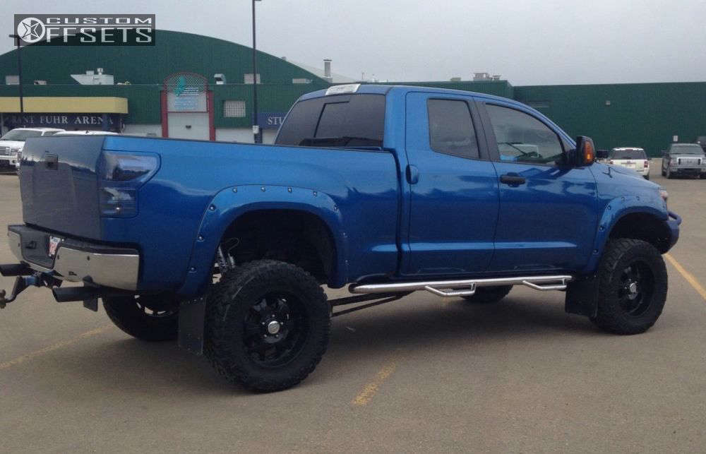 """2010 Toyota Tundra Nearly Flush on 20x9 0 offset Bmf M-80 and 35""""x12.5"""" Nitto Trail Grappler on Suspension Lift 6"""" - Custom Offsets Gallery"""
