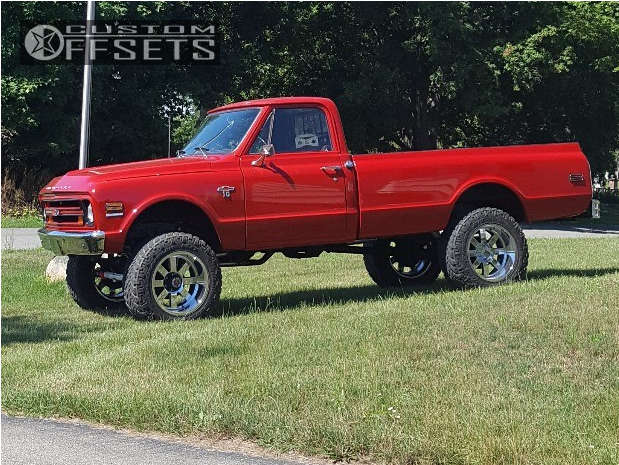 """1968 Chevrolet K10 Pickup Aggressive > 1"""" outside fender on 20x12 -44 offset Moto Metal MO962 and 35""""x12.5"""" Nitto Trail Grappler on Suspension Lift 6"""" - Custom Offsets Gallery"""