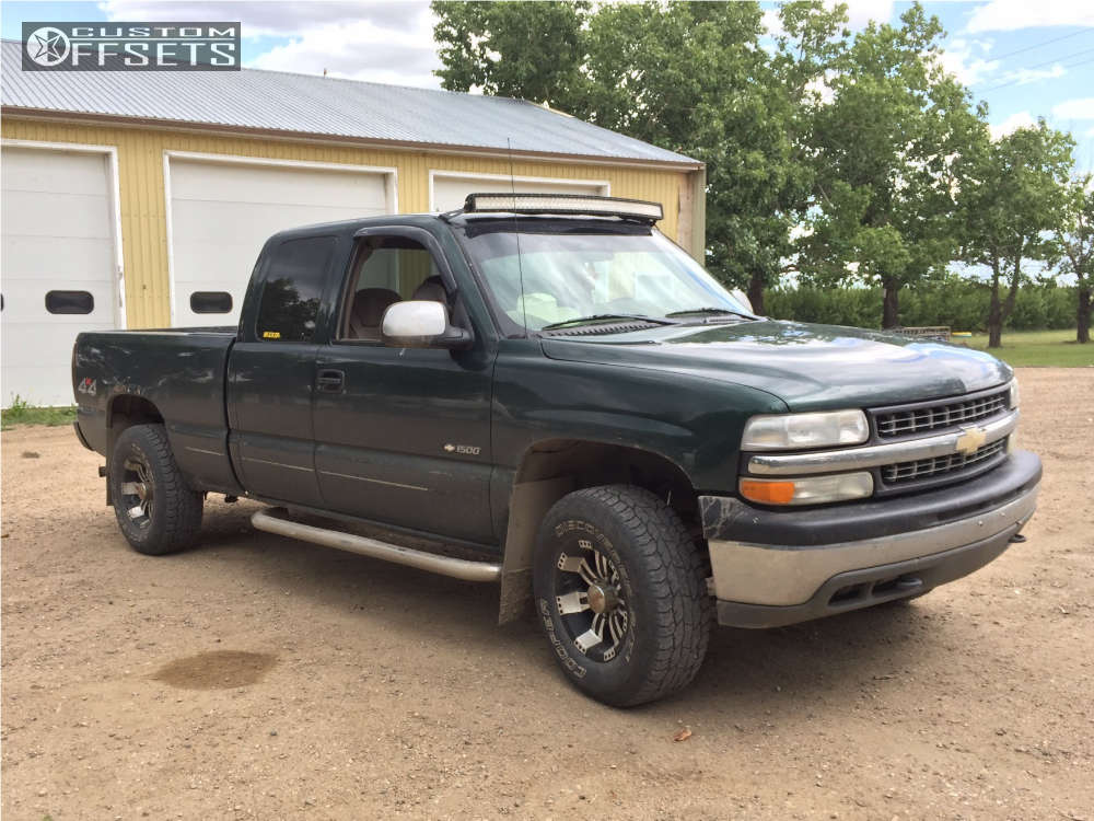 2002 Chevrolet Silverado 1500 HellaFlush on 16x8 -6 offset Incubus Poltergeist & 265/75 Cooper Discoverer At3 on Leveling Kit - Custom Offsets Gallery