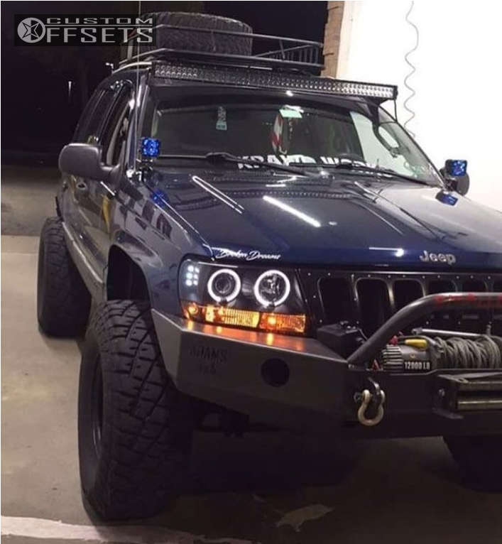 """2002 Jeep Grand Cherokee Super Aggressive 3""""-5"""" on 15x8 -19 offset Vision Soft 8 & 33""""x12.5"""" General Grabber AT2 on Suspension Lift 5"""" - Custom Offsets Gallery"""