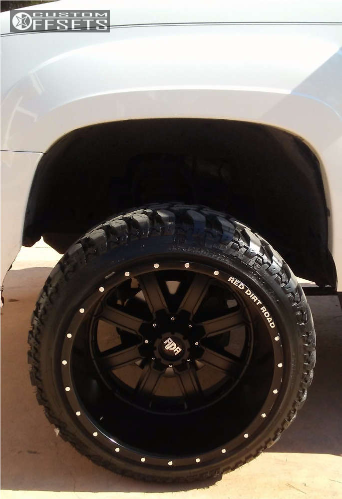 """2007 Chevrolet Suburban Super Aggressive 3""""-5"""" on 22x14 -76 offset Red Dirt Road Rd01 and 33""""x12.5"""" Radar Renegade R7 on Suspension Lift 4"""" - Custom Offsets Gallery"""