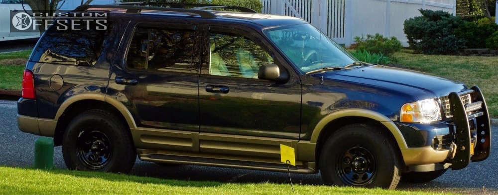 2003 Ford Explorer Flush on 16x8 13 offset Cragar Soft 8 & 265/75 Firestone Destination A/t on Stock Suspension - Custom Offsets Gallery