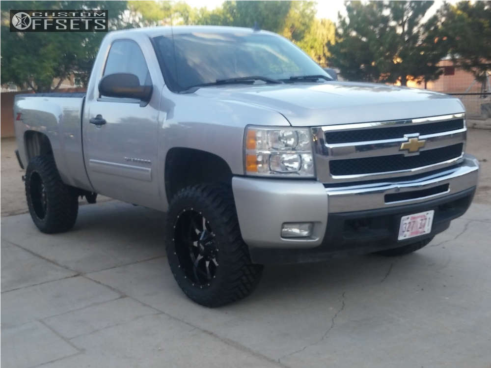 """2011 Chevrolet Silverado 1500 Aggressive > 1"""" outside fender on 20x10 -24 offset Moto Metal Mo970 and 33""""x12.5"""" Atturo Trail Blade Mt on Suspension Lift 3"""" - Custom Offsets Gallery"""